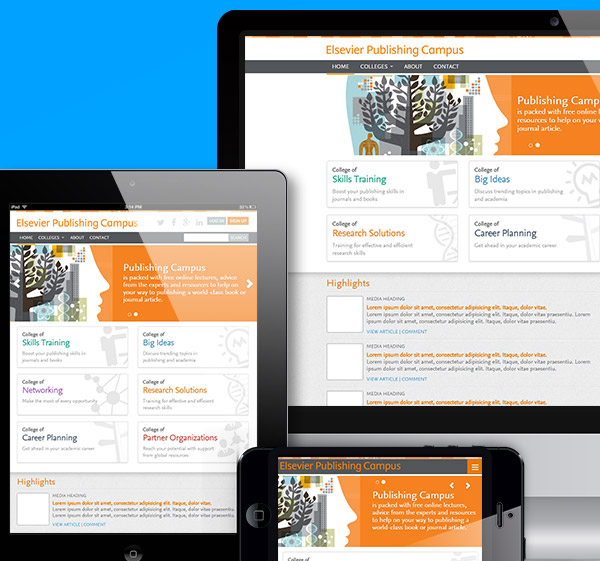 <span>Responsive web design &amp; marketing collateral for e-learning suite</span><i>→</i>